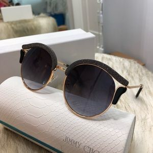 Lash/s Jimmy Choo Structured Sunglasses